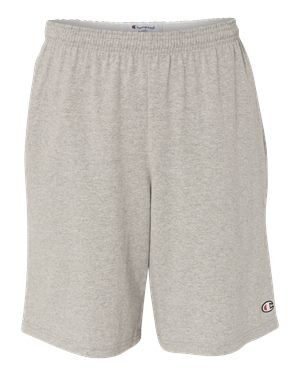 Champion 8180 9'' Inseam Cotton Jersey Shorts With Pockets Oxford Grey M by Champion
