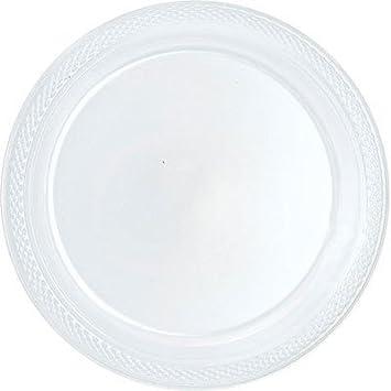 Amazon.com Bulk Round Plastic Plates | 50ct (10.25 inch Clear) Kitchen \u0026 Dining  sc 1 st  Amazon.com & Amazon.com: Bulk Round Plastic Plates | 50ct (10.25 inch Clear ...