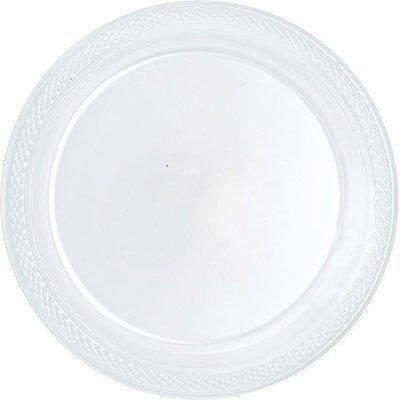 Bulk Round Plastic Plates | 50ct (10.25 inch Clear)  sc 1 st  Amazon.com & Amazon.com: Bulk Round Plastic Plates | 50ct (10.25 inch Clear ...