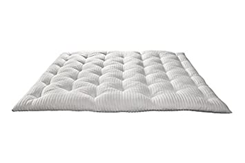 Evergreenweb - Topper Viscoelástico, 135x190 Blanco, Espesor 7 cm - Cubre colchón de microfibra - súper suave, relleno pesado ...