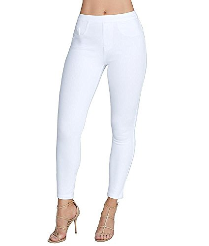 Spanx Control Pants - SPANX Cropped Denim Leggings, M, White