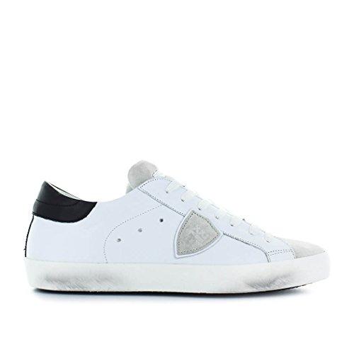 Philippe Model Zapatos de Hombre Zapatilla Paris Basic Blanco/Gris Primavera Verano 2018