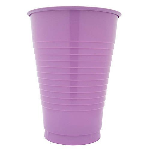 16 oz Lavender Plastic Cups, 20 Pack
