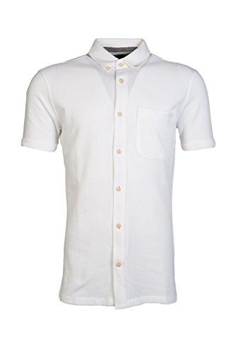 Armani AJ Men's Extra Slim Fit Button-Down Shirt 06C82ZA L White