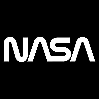 NASA (2 Pack) Vinyl Decal Sticker | Cars Trucks Vans SUVs Windows Walls Cups Laptops | White | 2-5.5 x 1.5 Inches | KCD2177: Automotive