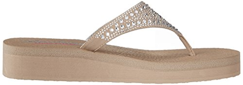 Skechers Taupe Womens Thong Sandals Bindu Vinyasa zYwqzx