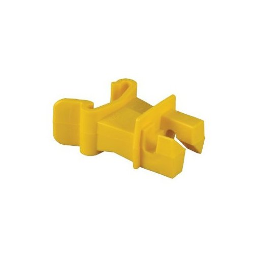 Zareba IT2XY-Z Snap-on 2-Inch Extender T-Post Insulator, Yellow, 25 per Bag