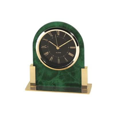 The shopping aisle Dome Acrylic Desk Clock, Green Marble - Roman numerals at every hour Operates on a highly accurate quartz movement Marble acrylic with gold trim - clocks, bedroom-decor, bedroom - 31ra8YIrXqL. SS400  -