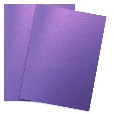 (Shimmer Violet Satin 8-1/2-x-11 Lightweight Multi-use Paper 25-pk - 118 GSM (32/80lb Text) PaperPapers Letter size Everyday Paper - Professionals, Designers, Crafters and DIY Projects)