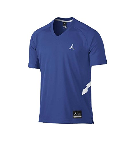 Basketball Shooting Jerseys - Jordan Men's Dri-Fit Prime Fly Shooting Jumpman Basketball Jersey-Royal Blue-Small