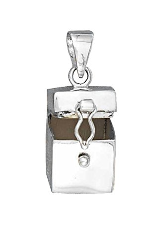 Sterling Silver Girls 30'' .8mm Box Chain Plain Prayer Box Locket Pendant Necklace Pendant Necklace by Auntie's Treasures