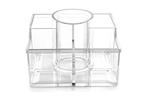 BINO 'The Heiress' 8 Compartment Jewelry and Makeup Organizer, Clear and Transparent Cosmetic Beauty Vanity Holder Storage