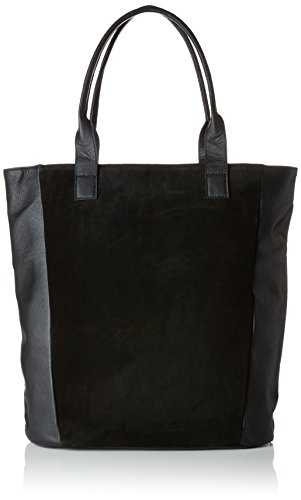 x Pctalina B x Black 14x40x35 Bag PIECES Women's Suede cm Shoulder T H Shopper SAfpq