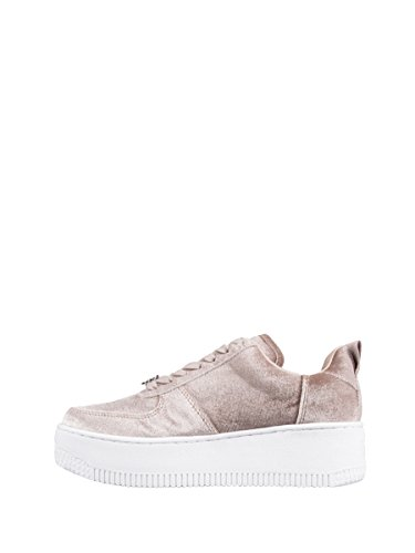 Windsor Smith Damen Sneaker Rollkragen Racerr Velvet, Beige (Taupe), 36 (Herstellergröße:)