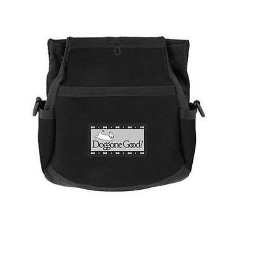 Doggone Good Rapid Rewards Deluxe Dog Training Bag with Belt (Black)