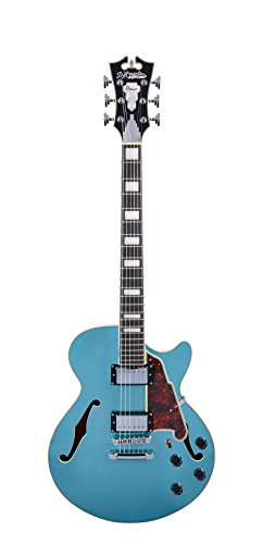 D'Angelico Premier SS Semi-Hollow Electric Guitar w/ Stop-Bar Tailpiece – Ocean Turquoise