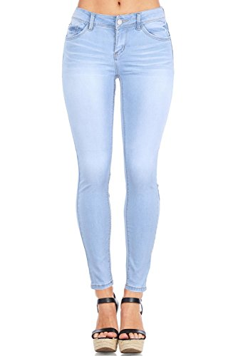 Low Rise Womens Skinny Jeans (Wax Women's Juniors Timeless Low Rise Stretchy Skinny Jeans (7, Light)
