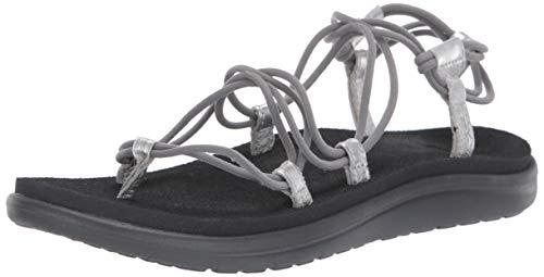 Teva Women's W VOYA Infinity Metallic Sandal, Grey/Silver, 05 M US