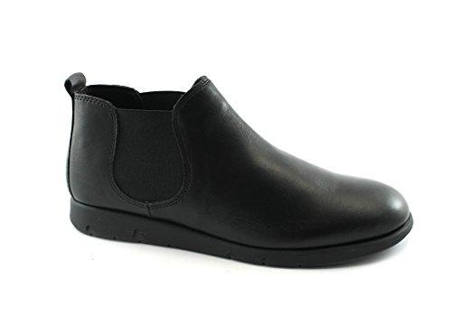 Grunland Mili PO0865 Chaussures Noires Milieu Beatles Femmes Élastique, Cuir Nero
