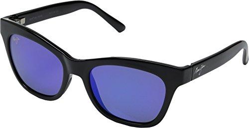 Maui Jim Sweet Leilani Polarized Sunglasses Gloss Black Frame/ Blue Hawaii Polarized - Sunglasses Maui Cat Eye Jim