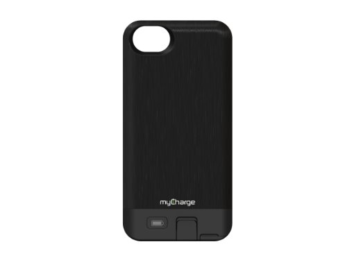 Mycharge RFAM-247 Freedom 2000 Power Case for iPhone 5, (Black Metal)