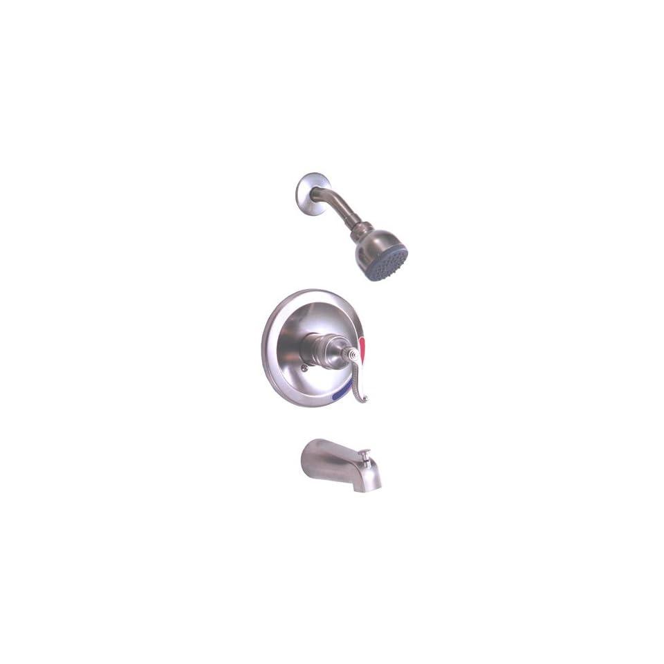 Peerless 875 405 Brushed Nickel Single Handle Tub/Shower Faucet