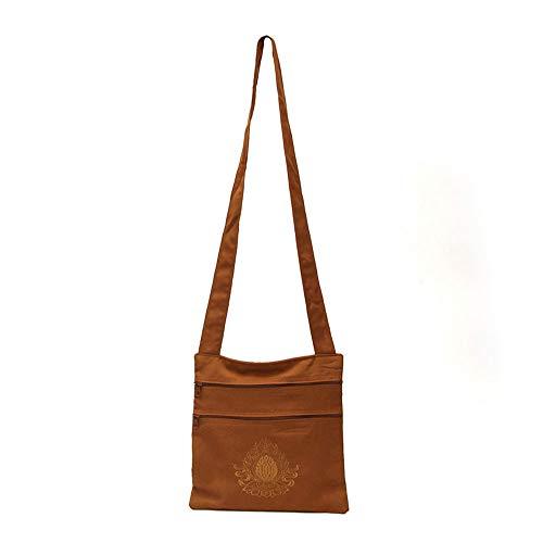 - ZeeStar Tibetan Buddhist Bag - Buddhist Monk Bag Embroidery Shaolin Kung Fu Oneshoulder Bag (C)