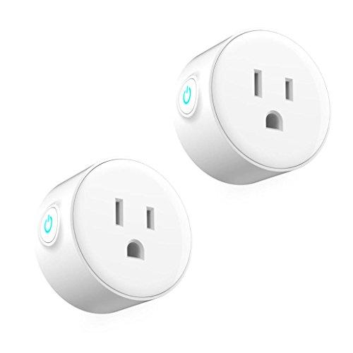 Alonea Alone Smart Plug, WI-Fi, Smart Socket 2Pcs Smart Plug WI-Fi Enabled Mini OUTLETS Smart Socket Control Your Electric 2pc (White) by Alonea