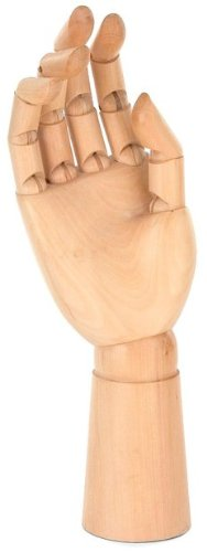 Wooden Moveable Bendable Articulated Posable Male Right Hand Artist's Model