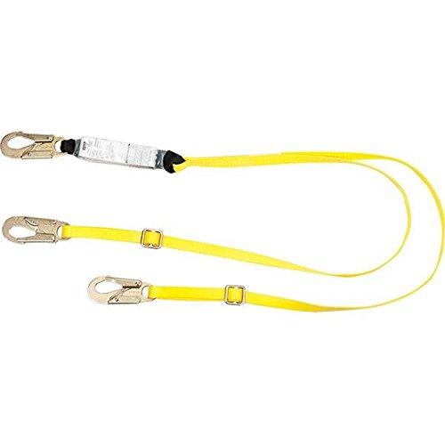 MSA Workman Shock-Absorbing Lanyard, Twin Leg w/ Locking Snap Hooks (Adjustable) (2 Pack) (Shock Leg Workman Twin)