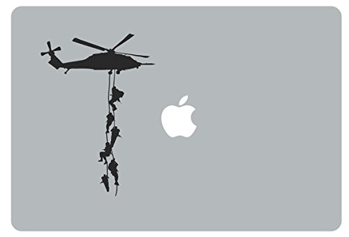 (Macbook Pro Decal Army Soldiers, Helicopters, and Parachutes GI Joe Boys Room Vinyl)