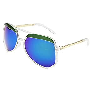 2015 Men and Women with the Fashionable Sunglasses Trend Frog Mirror (Transparent green mercury)