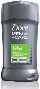 Dove Men + Care Antiperspirant Déodorant, Extra frais, 2,7 once (Pack de 2)