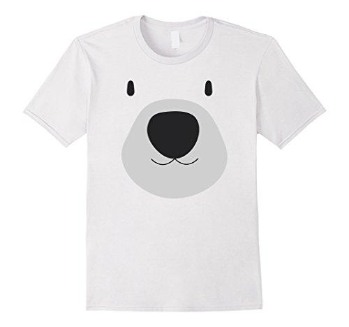 Polar Bear Mask (Mens Polar Bear Face Cute Animal T-Shirt Medium White)