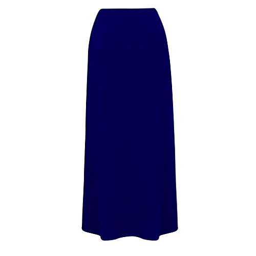 Maternity Wedding Dress, Women's Maternity Pregnancy Comfort High Waisted Tummy Control Solid Skirt|Maternity T Shirt Dress Dark Blue