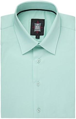 TM Exposure Men's 135L Slim Fit Stretch Sateen Long Sleeve