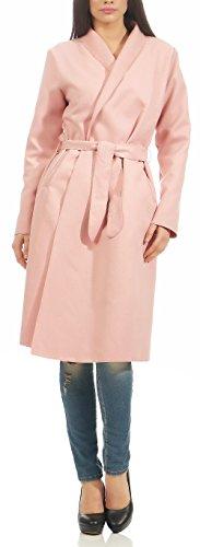 Manteau One Size Cascade Femme Rose Cardigan 3050 design Malito Veste Long 1qZwnSxOR