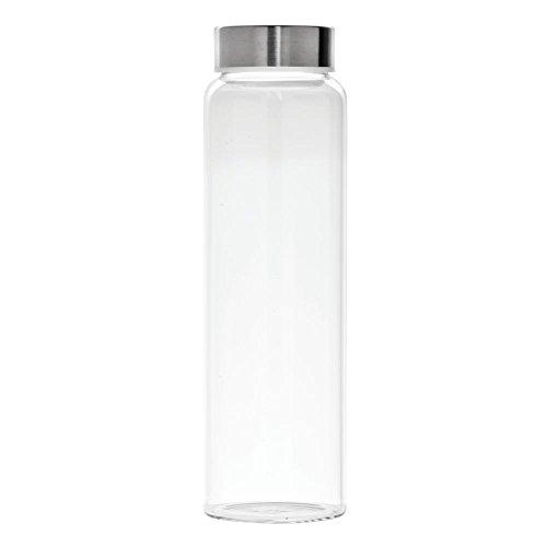 Libbey Kinetix Glass Water Bottle with Lid 33 Oz