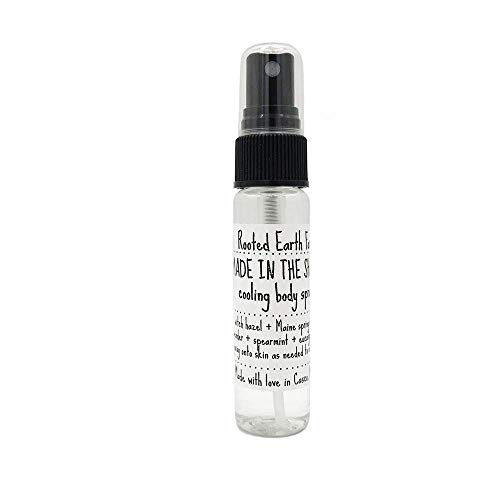 Cooling Body Spray 1 oz Made in the Shade Mist for Menopause, Exercising, Hot Days, Beach