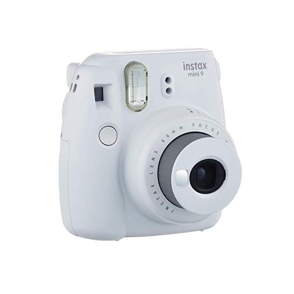 RetinaPix Fujifilm Instax Mini 9 (Smokey White) Instant Camera with Mini Film Twin Pack