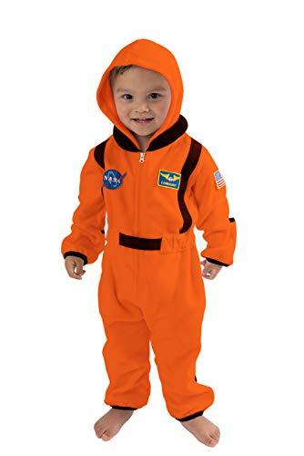 Cuddle Club Fleece Baby Bunting Bodysuit for Newborn to 4T - Infant Winter Jacket Coat Toddler Costume - AstronautOrange6-12m