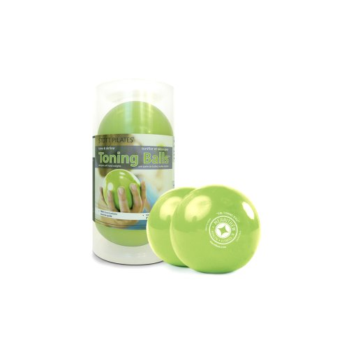 STOTT PILATES Toning Ball, Two-Pack (Lime), 3 lbs / 1.4 kg each by STOTT PILATES
