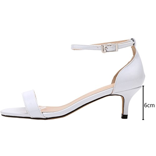 Escarpins Moyen Mariage 35 Bout Blanc Cheville Wealsex Femme Boucle Bride Chaussure Ouvert Cuir Talon Vernis Soirée 42 Sandales Confort awqC5qYF