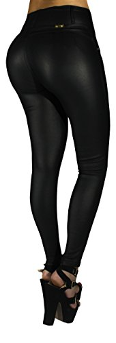 Black Leather Pants For Women - 4
