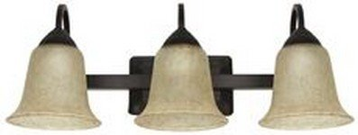 Feit Electric 73804 3-Light Led Vanity Fixture, Oil Rubbed Bronze, 21-3/4'', Uses (3) 24W Integrated Led Modules, 25.75'' x 22.125'' x 18.25''