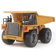HuiNa 2.4Ghz Radio Control 6 Channel RC Dump Truck Construction Truck w/Lights