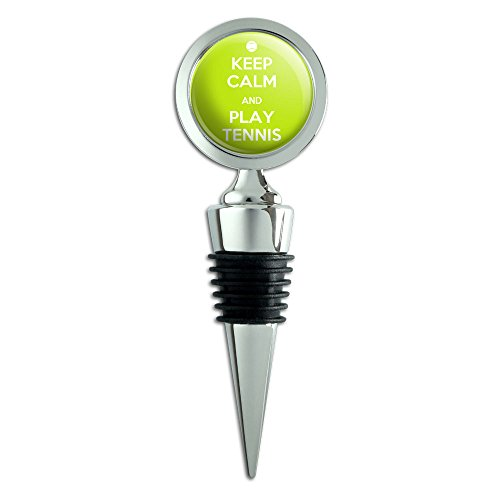 Keep Calm And Play Tennis Sports Wine Bottle Stopper -