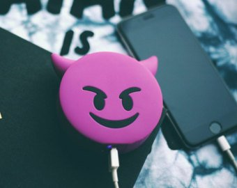 HOT NEW Seller 2200mAh Emoji Cute Funny Cartoon Gift External Battery Portable Charger Backup Pack Power Bank for iPhone 6 6S Plus 5S 5C SE 4S Samsung Galaxy S7 S6 Edge S5 Note and More (DEVIL (Homemade Devil Costumes For Halloween)