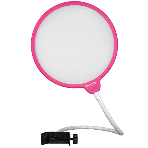 Dragonpad USA 6 Microphone Studio Pop Filter with Clamp - Pink/White