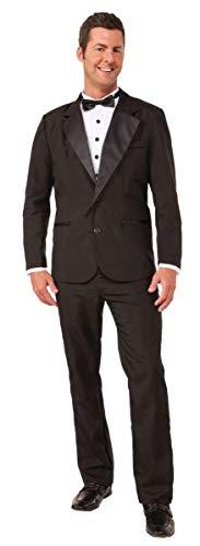 Forum Novelties Men's Instant Zip-Up Tuxedo Costume, Black, Medium